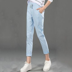 Cottony - Drawstring Waist Slim Fit Pants