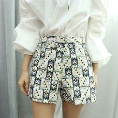 Dodostyle - Band-Waist Patterned Shorts