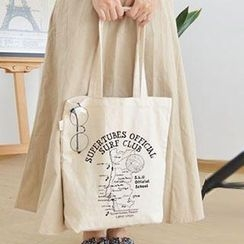 Aoba - Map Printed Shopper Bag