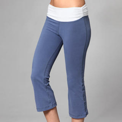 Almaz.C Active - Contrast-Waistline Cropped Pants