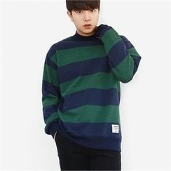 Smallman - Color-Block Mock-Neck T-Shirt