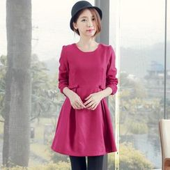 Tokyo Fashion - Bow-Accent Pleated Dress