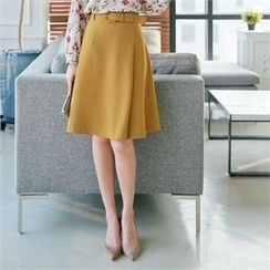 Styleberry - A-Line Skirt with Belt