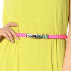 SO Central - Multi-Color Cystal Trim Belt