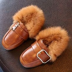 Luco - Kids Furry Buckled Loafers