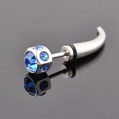 Trend Cool - Titanium Steel Rhinestone Single Earring