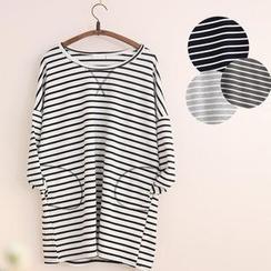 11.STREET - Side Pocket Striped Tunic