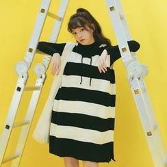 SUYISODA - Stripe Long Knit Vest