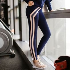 MANANA - Striped Yoga Pants