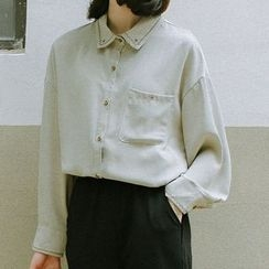 SUYISODA - Plain Embroidered Blouse