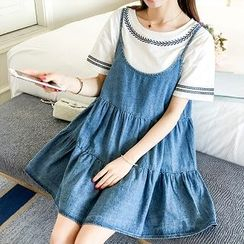 Colorful Shop - Denim Sleeveless Dress