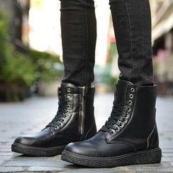 Preppy Boys - 繫帶短靴