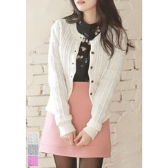 MyFiona - Round-Neck Cable-Knit Cardigan