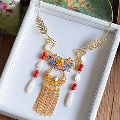Ashmi - Bridal Tasseled Necklace
