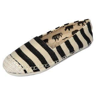 yeswalker - Striped Herringbone Slip-Ons