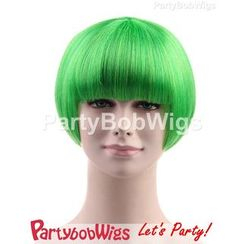 Party Wigs - PartyBobWigs - Party Short Bob Wig - Green