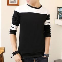 Fusuma - Color Block Long-Sleeve T-Shirt