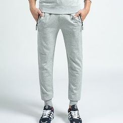 MaxBlue - Set: Quilted Sweatshirt + Sweatpants