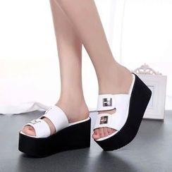 Sleeko - 套趾坡跟凉鞋