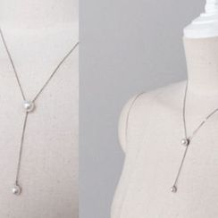 DAILY LOOK - Faux-Pearl Drop Necklace