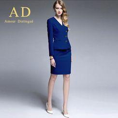 艾尚臣 - 套裝: 側排扣西裝 + 鉛筆裙