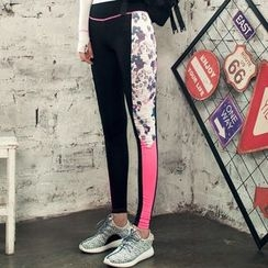 Giorno - Workout Printed Skinny Pants