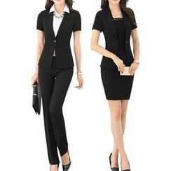 Caroe - Set : Short-Sleeve Blazer + Pants