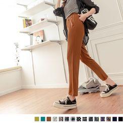 OrangeBear - 圖騰印花涼感冰箱褲