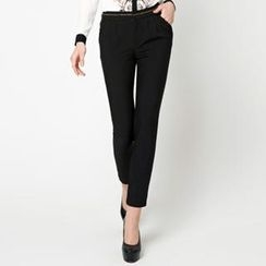 O.SA - Chain-Trim Slim-Fit Pants