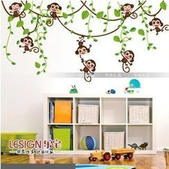 LESIGN - Cartoon Monkey Wall Sticker