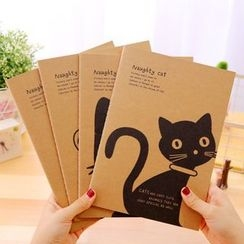 Lover's Kiss - Cat Print Notebook (M)