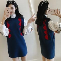 Meteor - 图案针织裙衣