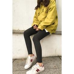 CHERRYKOKO - Ribbed Leggings