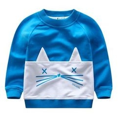 Endymion - Kids Cat Applique Pullover