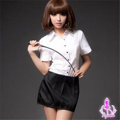 Ayoka - Party Costume Set: Short-Sleeve Top  + Skirt