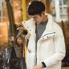 Chuoku - Hooded Padded Long Coat