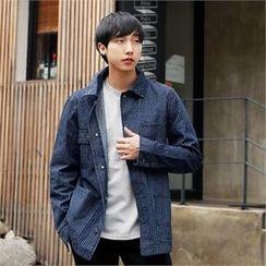 Smallman - Washed Stripe Denim Jacket
