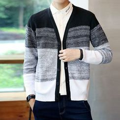 Danjieshi - Color Block Cardigan