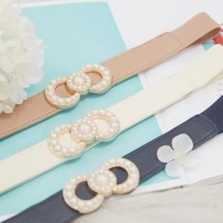 Tokyo Fashion - Beaded Bow Elasticized Belt