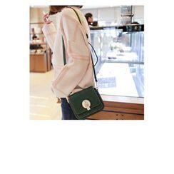 WITH IPUN - Buckled Flap Mini Shoulder Bag