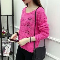 Oaksa - Pointelle Knit Top