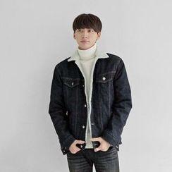 Seoul Homme - Fleece-Lined Denim Jacket