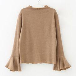 Meimei - 皱摺边针织上衣