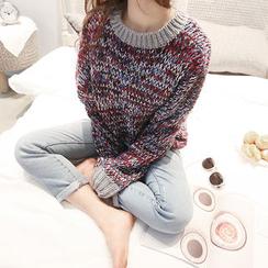 NANING9 - Crew-Neck Knit Sweater