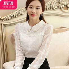 Eferu - 刺绣雪纺衬衫