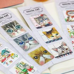 Homey House - Set of 3: Cat Magnetic Bookmark