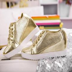 YIYA - 內增高厚底休閒鞋
