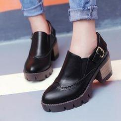 Parkwalker - Chunky Heel Loafers