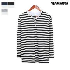DANGOON - Long-Sleeve Striped Henley