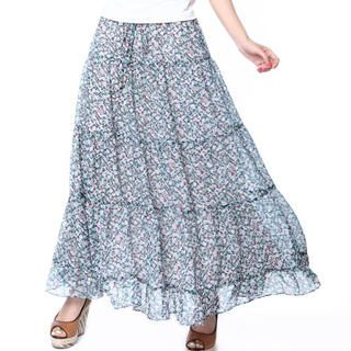 O.SA - Two-Way Floral Tiered Maxi Skirt
